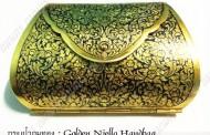 กระเป๋าถมทอง : Golden Niello Handbag