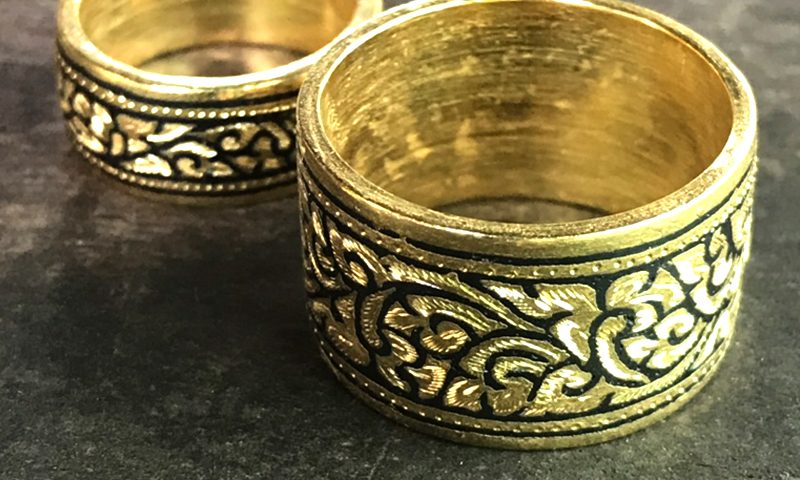 แหวนถมทอง ถมทอง ทาทองแท้ ไม่ลอก